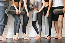 Pilates and Barre Class Students