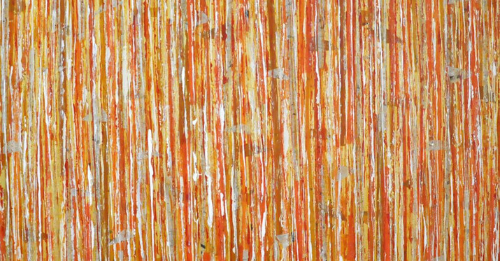 """Creamsicle Forest (48""""x48"""")"""