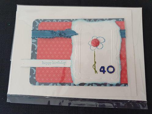 40 Button Flower Birthday