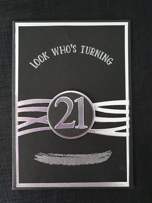 Black and Silver 21 Birthday
