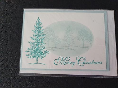 Blue Tree Merry Christmas
