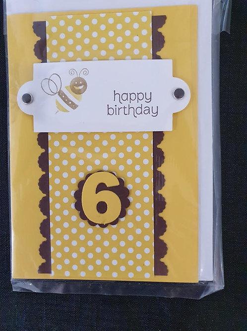 6 Bee Birthday