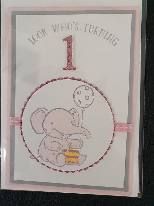 1 Pink Elephant Birthday