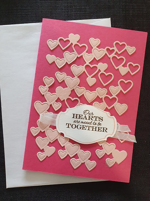 Pale Pink Hearts Together
