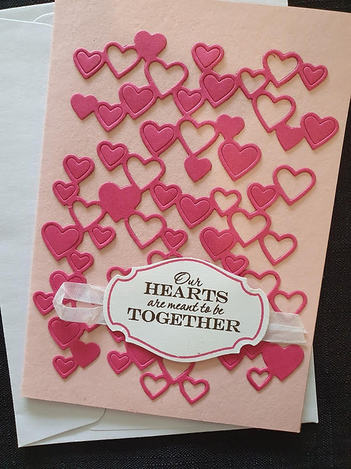 Bright Pink Hearts Together
