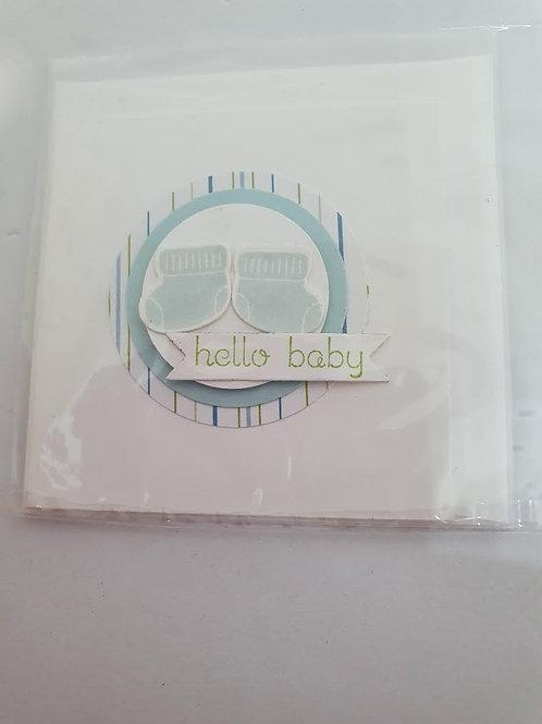 Blue mini gift card