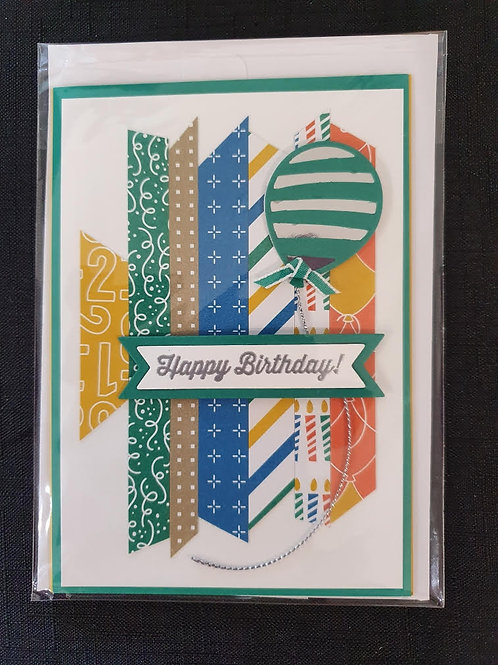 Stripey Balloon Birthday