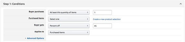 Amazon.com Seller Central Settings for Amazon Promo Code USA