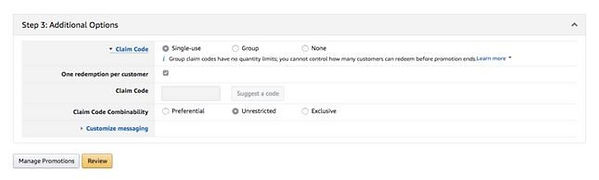 Amazon Promo Code USA Free Shipping Settings