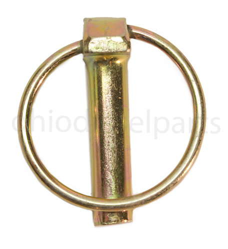"Round Linch Pin with Ring 7/16"" x 1-3/4 Inch (Pack of 10)"