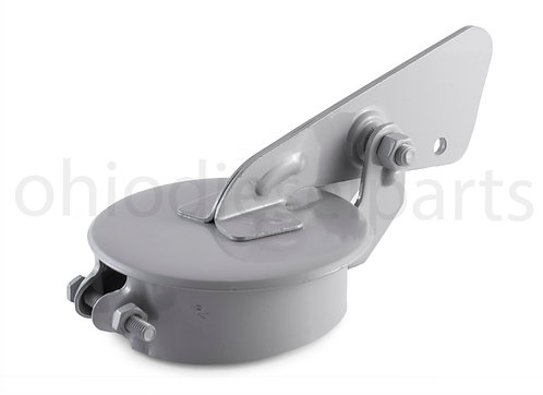 """4 Inch Tractor Exhaust Silencer Weather Flap Rain Cap Muffler Cover 4"""" (Gray)"""