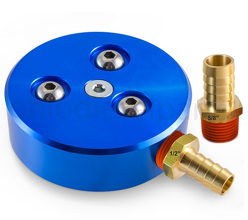 "Ohio Diesel Parts Diesel/Gas Fuel Tank Sump Kit with 1/2"" and 5/8"" Barbs (Blue)"