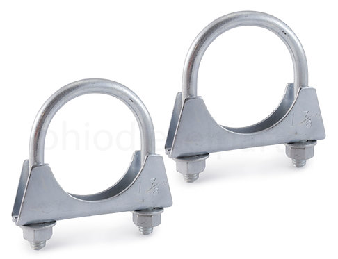 "Ohio Diesel Parts Heavy Duty Muffler/Exhaust Clamp 1-7/8"" Inch with Saddle"