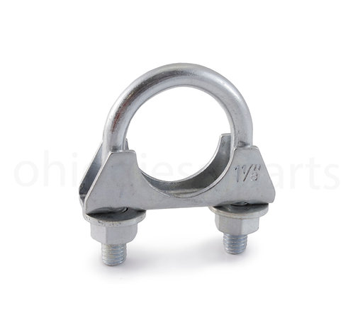 """Ohio Diesel Parts Heavy Duty Muffler/Exhaust Clamp 1-1/8"""" Inch with Saddle"""