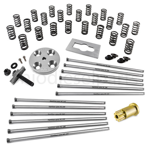 Hamilton Cams 24 Valve 103 lb Springs+Extreme Duty Pushrods+Retainers