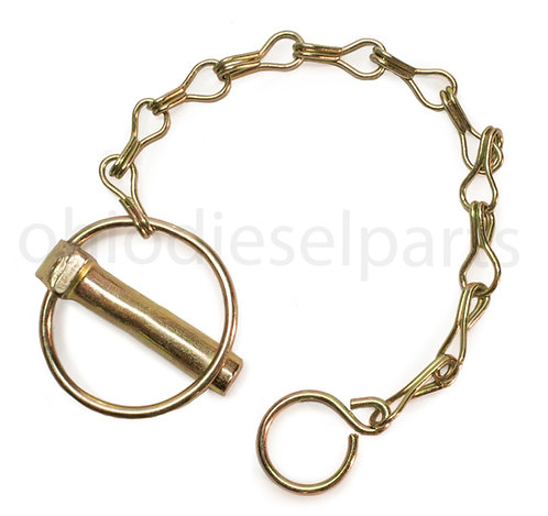 Round Linch Pin 7/16 X 1-3/4 Inch with Chain Hook (PACK of 10)
