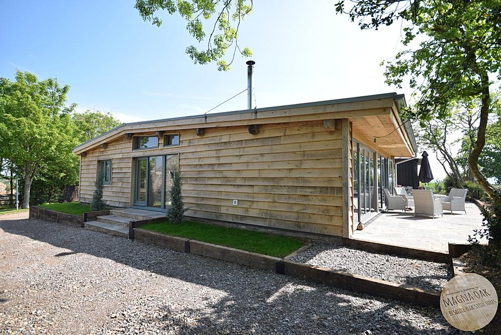 magna oak - Oak framed eco barn, Chew Valley, Somerset.