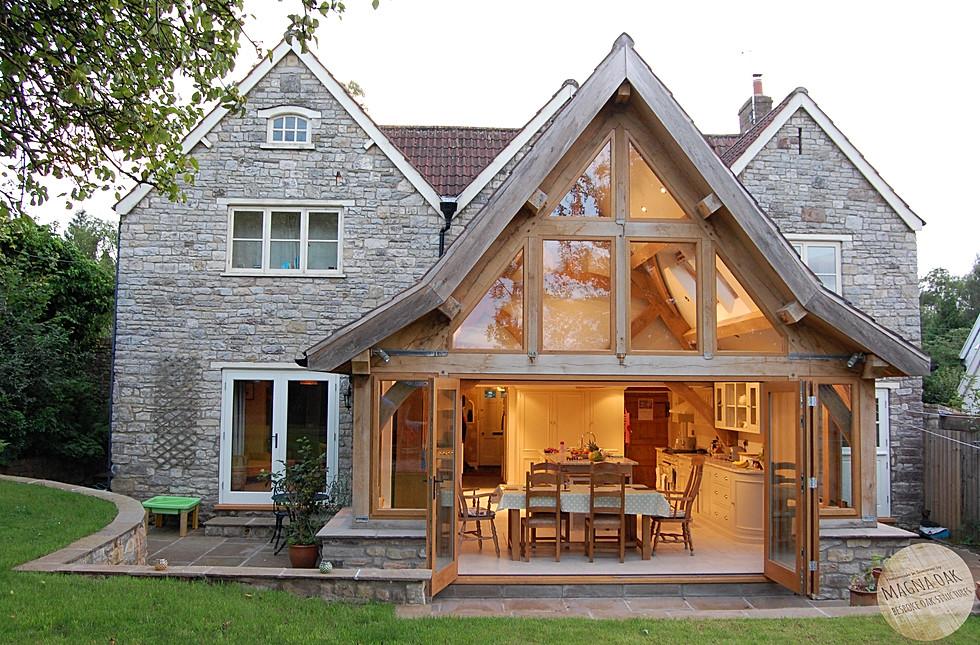 magna oak - Oak framed extension, Chew Valley, Somerset.