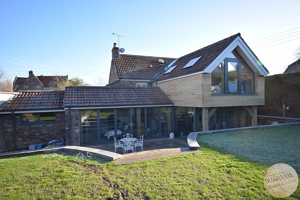 magna oak - Oak framed cottage extension, Chew Valley, Somerset.