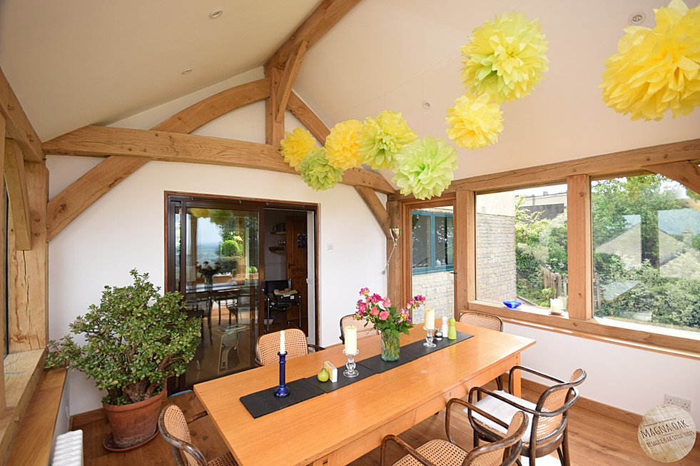 magna oak - 'A room with a view', Chew Valley, Somerset.