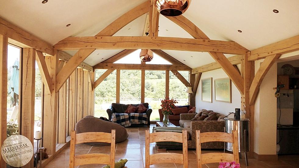 magna oak - Oak framed extension, Mendips, Somerset.