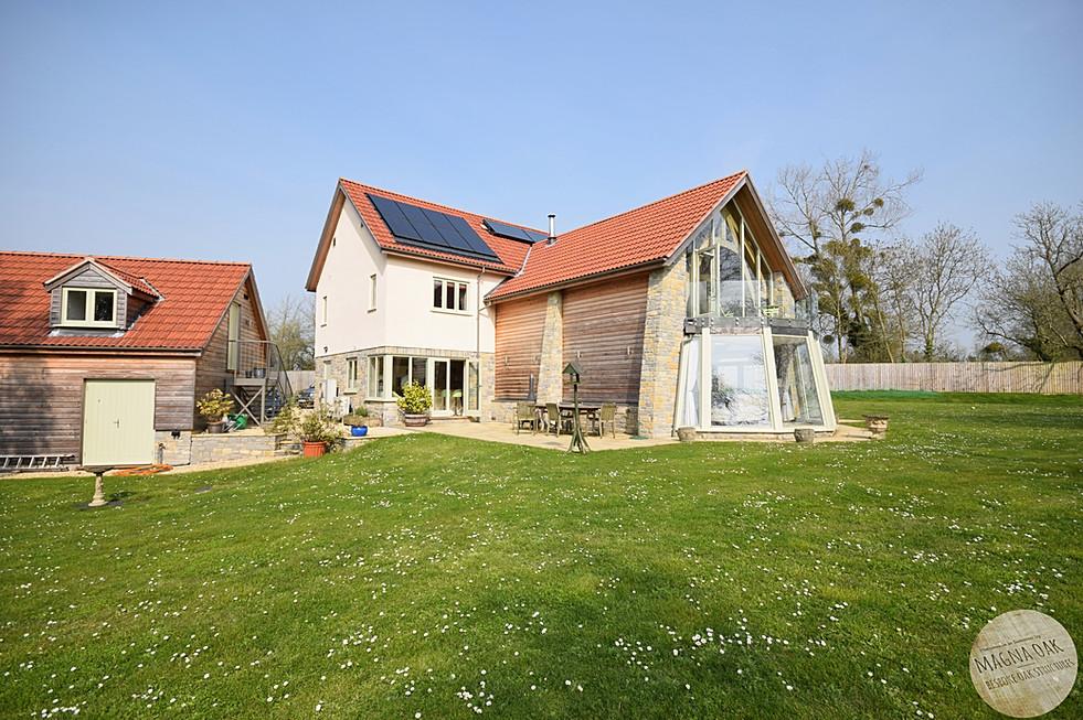 magna oak - New Oak framed house, Sedgemoor, Somerset.
