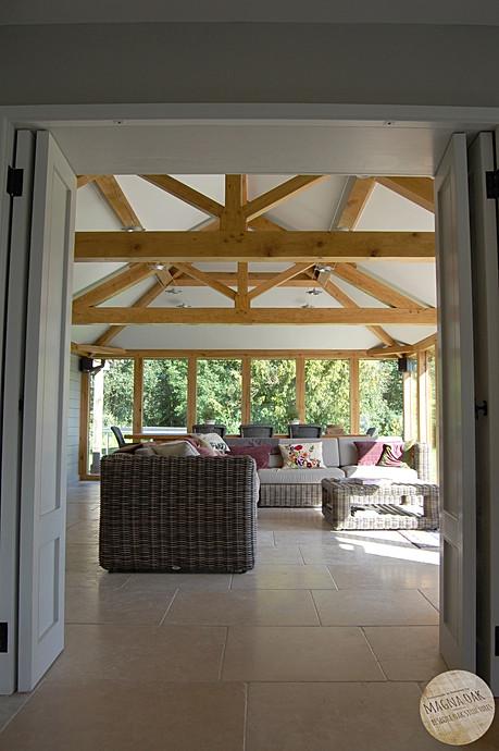 magna oak - Oak framed garden room, Dorset.