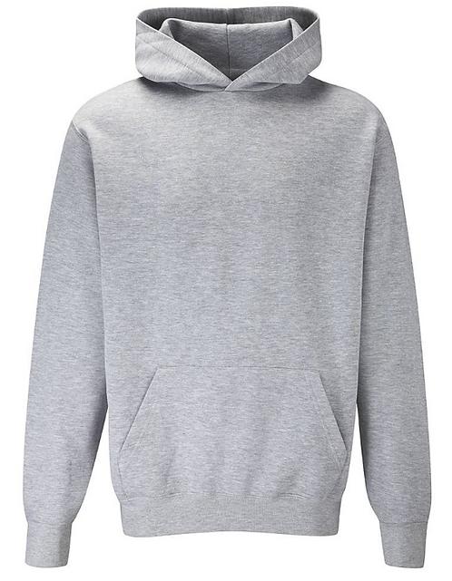 PE Hoodie - Grey with School Logo