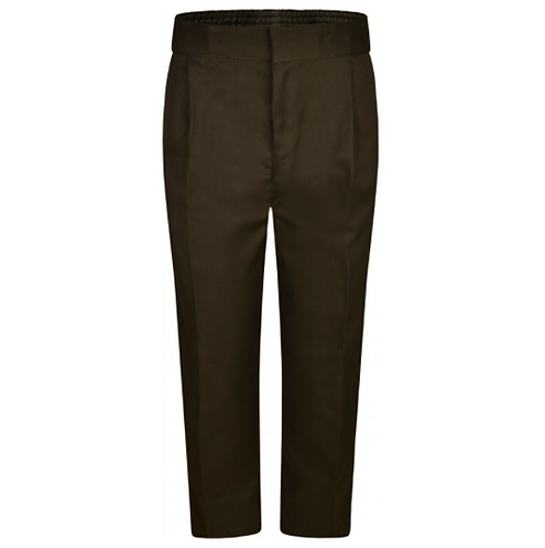 Boys Brown Sturdy Fit Trousers