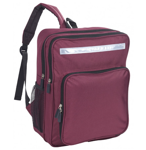 Junior Backpack Maroon- with school logo