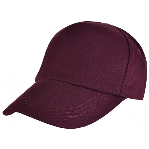 Maroon Summer Cap with Logo