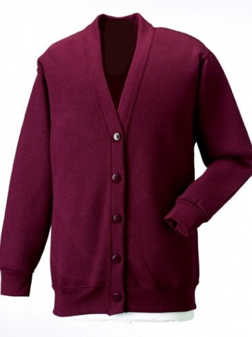 Sacred Heart Maroon Cardigan with Logo