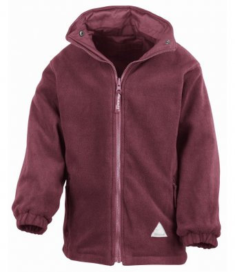 Fleece Jacket - Maroon with School Logo