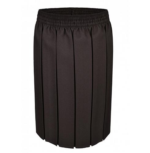 Girls Brown Box Pleat Skirt