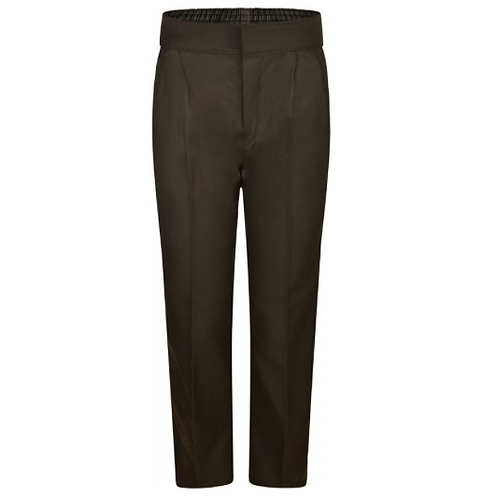 Boys Brown Regular Fit Trousers