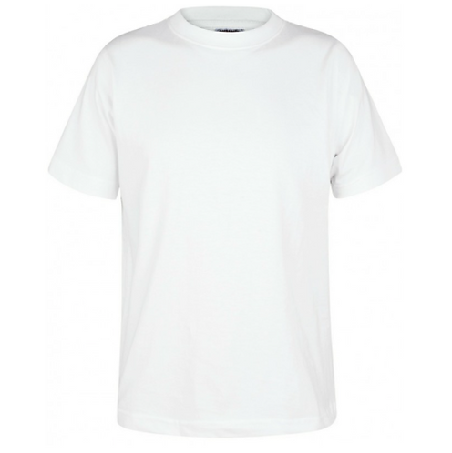Cossington PE T Shirt 100% Cotton White with logo