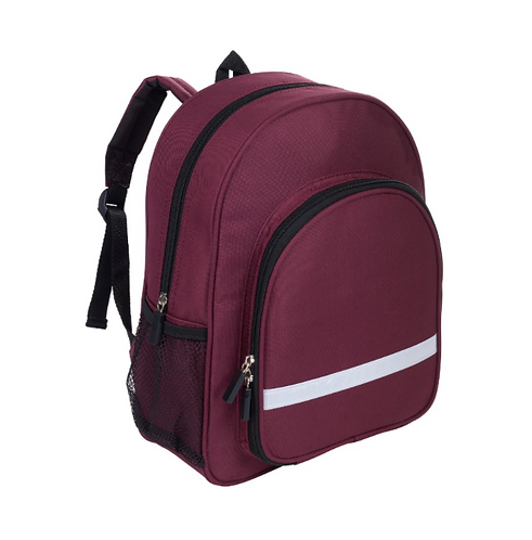Infant Backpack Maroon - with school logo