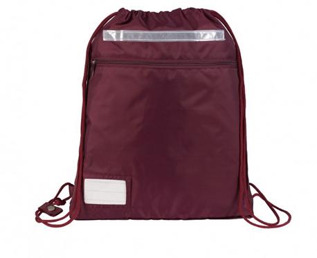 Premium Gym Bag- Maroon with School logo