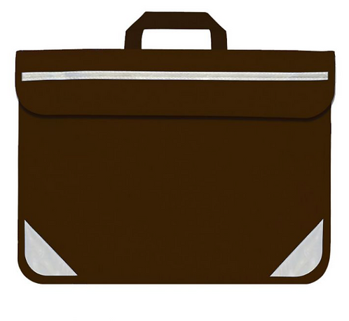 Brown Book Bag - with school logo