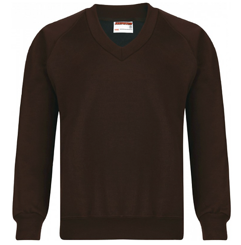 St Francis Knitted V Neck Jumper with Logo