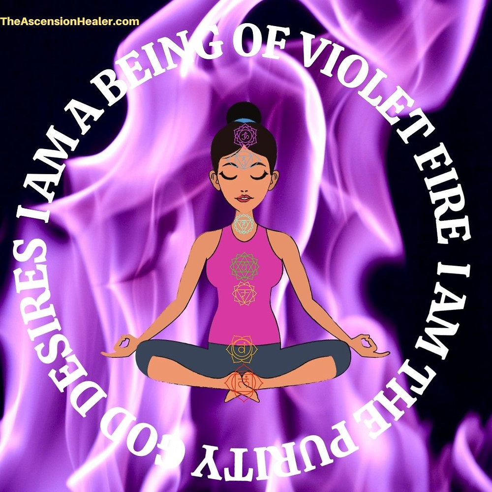 violet fire mantra: chant I am a being of violet fire I am the purity god desires