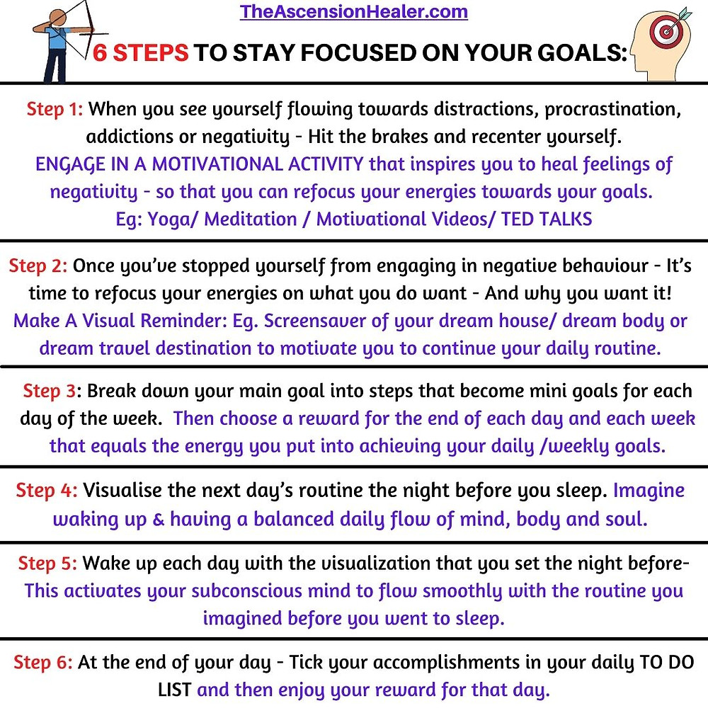 6 steps to stay focused on your goals