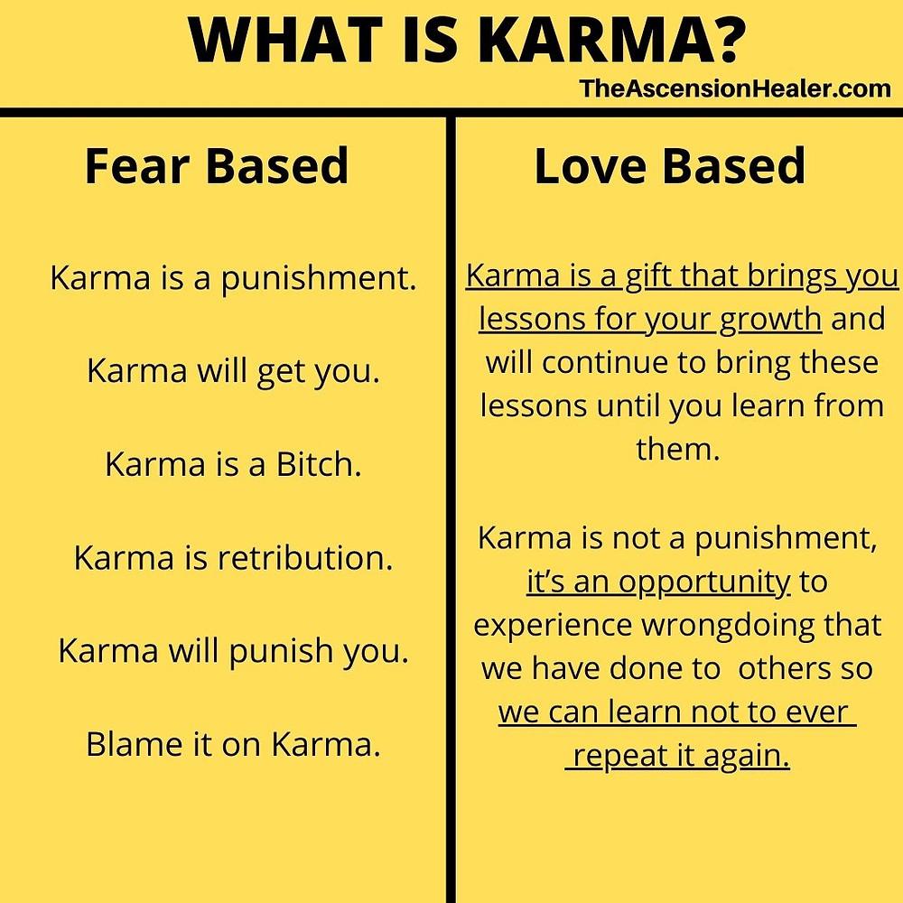 What is Karma? Fear based vs Love Based