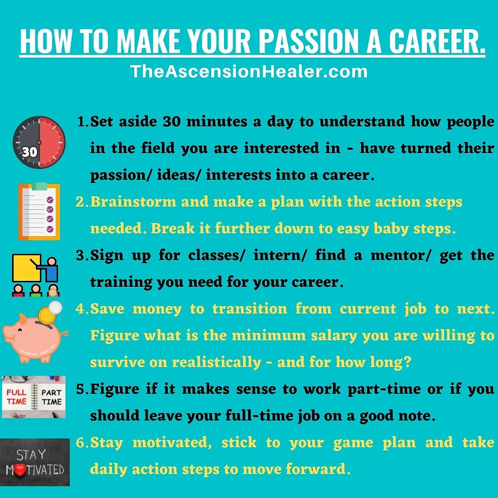 How to make your passion your career
