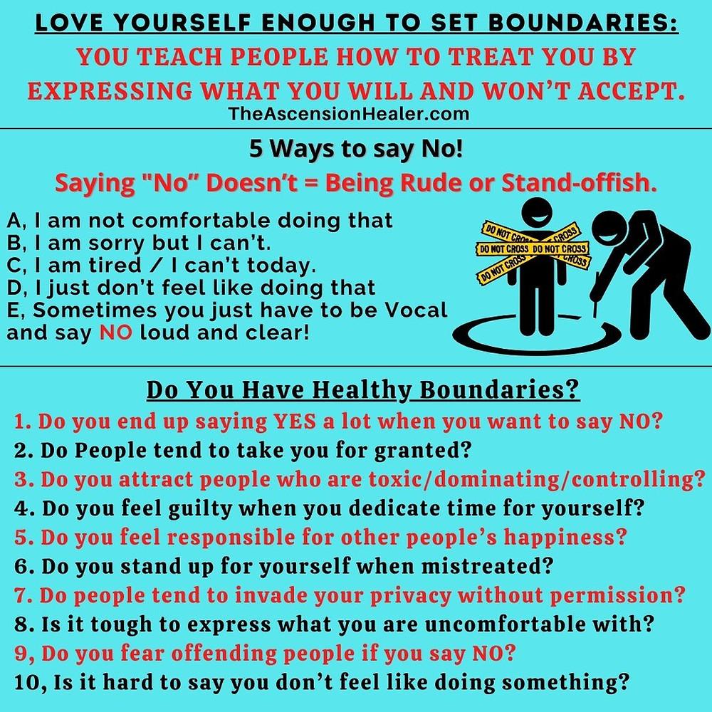 do you have healthy boundaries? 5 ways to say no