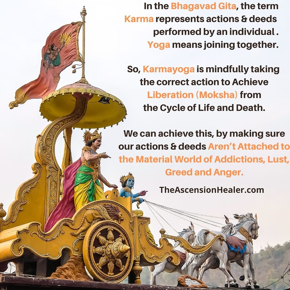Bhagavad Gita Karma meaning and definition of Karma yoga