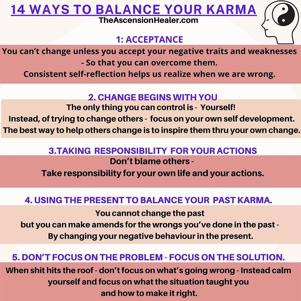 14 ways to balance your karma - part 1