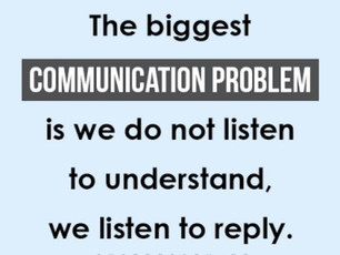 Communication is Mutual Understanding.