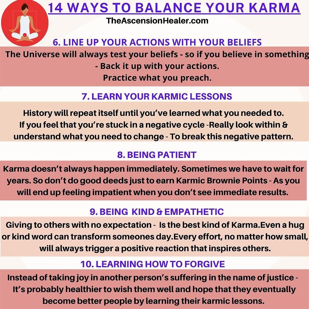 14 ways to balance your karma - part 2