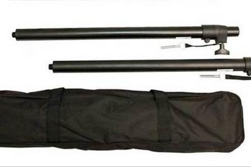 Adjustable Speaker Pole Pair w/ Bases and Bag